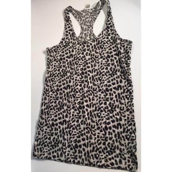 d4d66910292b7 PINK Victoria s Secret Tops - Victoria s Secret cheetah print tank top M